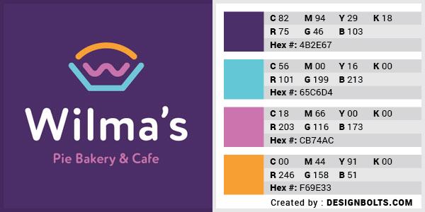最佳4色组合标志设计-紫色,粉红色和蓝色组合