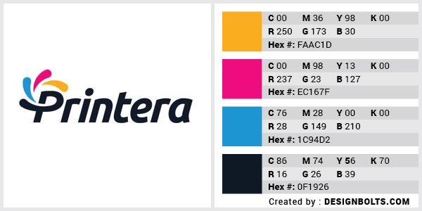 最佳4色组合标志设计-青色,洋红色,黄色和黑色组合