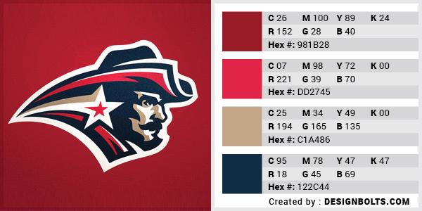 最佳4色组合标志设计-红色和米色组合