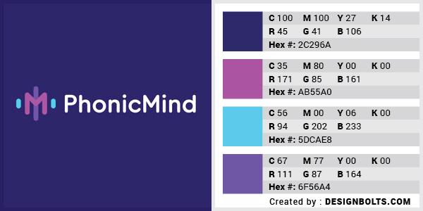 最佳4色组合标志设计-皇家蓝与紫色组合