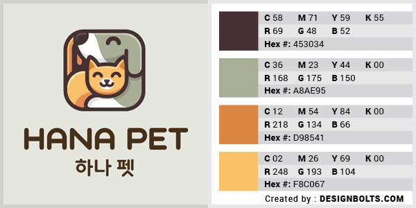最佳4色组合标志设计-橙色和鼠尾草色组合