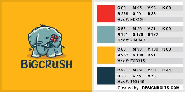 最佳4色组合标志设计-红色,蓝色和橙色组合