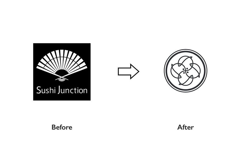 Junction寿司餐厅品牌形象设计-logo设计