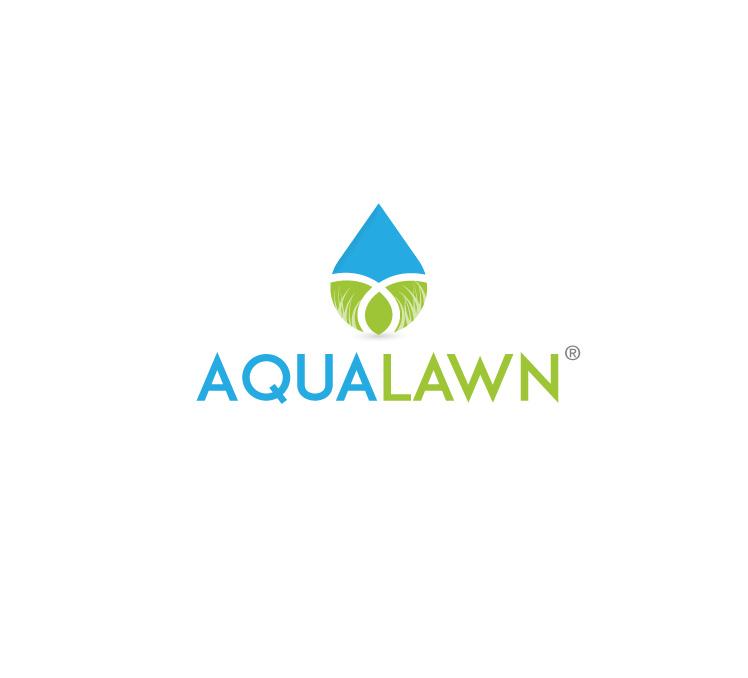 水滴logo设计,一半为蓝色,一半为绿色