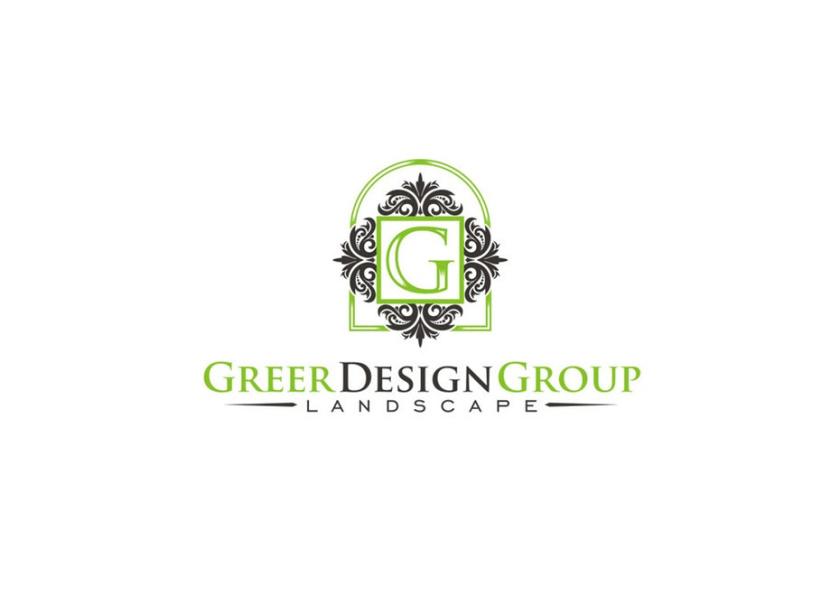 字母G周围复杂的绿色和灰色形状