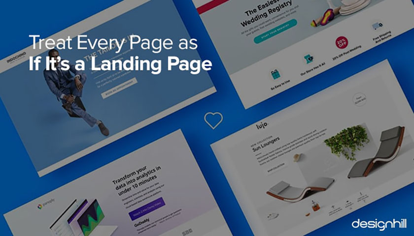 网站设计的艺术-按照着陆页标准,认真对待每一个页