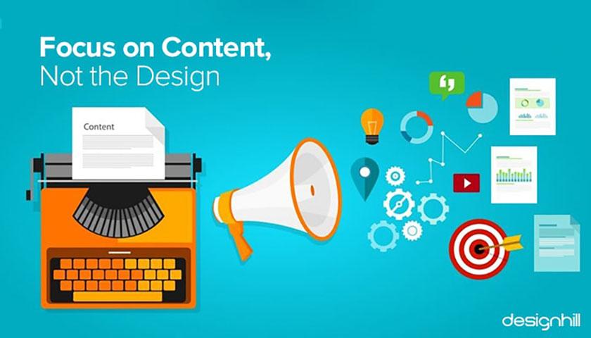 网站设计的艺术-专注于内容,而不是设计