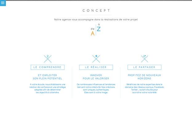 网站设计中建立视觉层次结构的6个原则-空间和纹理-Draw to Click的网站