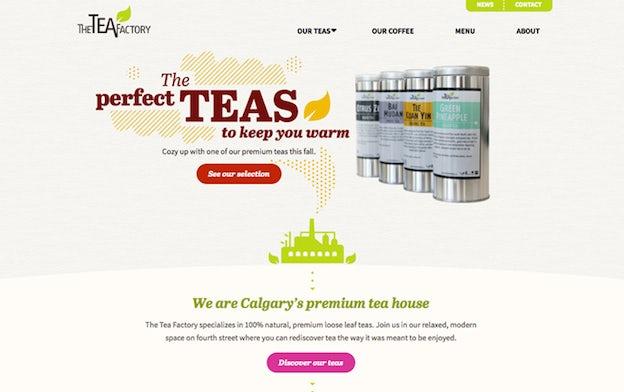 网站设计中建立视觉层次结构的6个原则-字体重量和配对-茶厂品牌