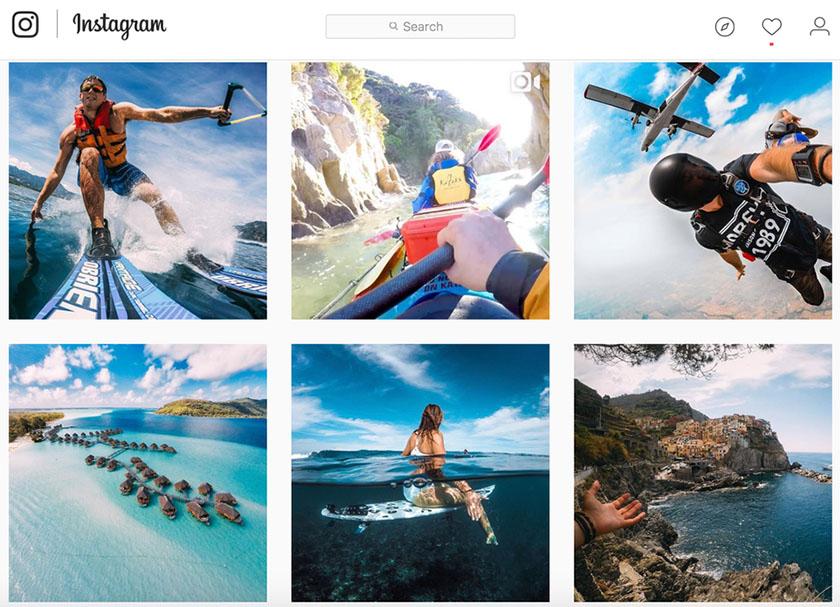 GoPro的instagram品牌形象图像