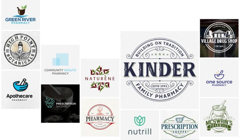 24个药房药店标识logo设计,促进健康业务增长