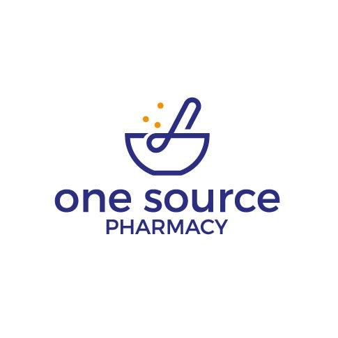 砂浆和杵药房logo设计-One Source Pharmacy徽标