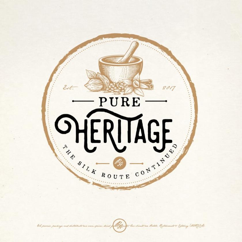 砂浆和杵药房logo设计-纯遗产标志