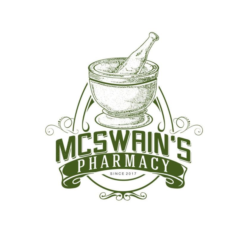 砂浆和杵药房logo设计-McSwain的药房标志