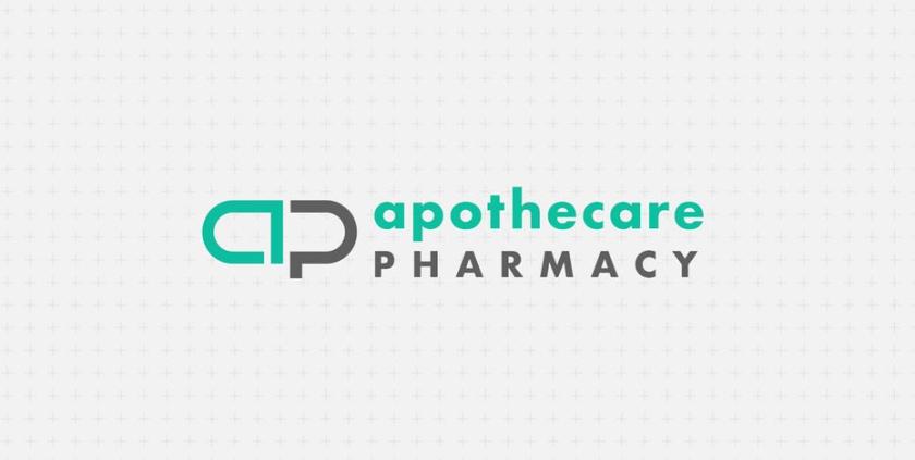 极简主义药房徽标logo设计-Apothecare药房标志