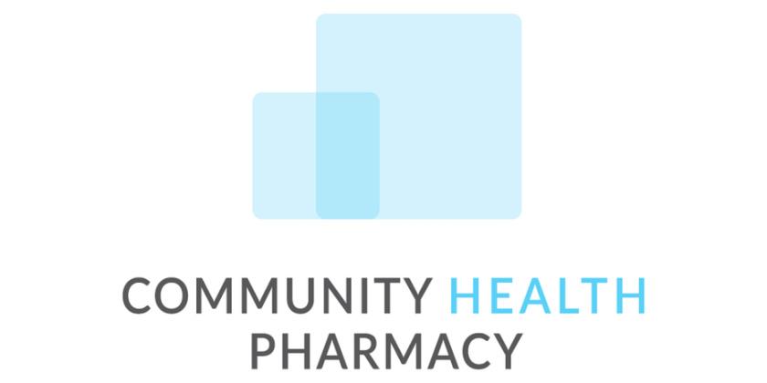 极简主义药房徽标logo设计-社区健康药房标志