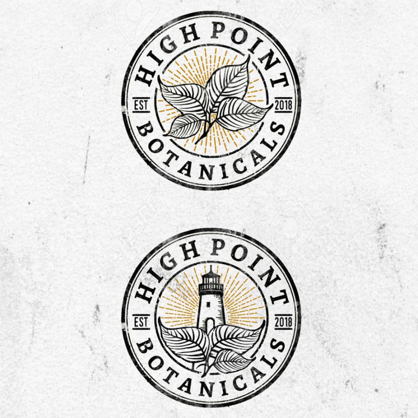 朴实的药房标识logo设计-High Point Botanicals标志