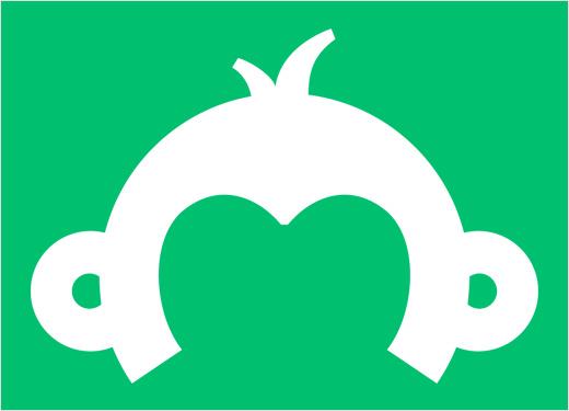 """SurveyMonkey 数据科技公司新logo设计""""猴子"""