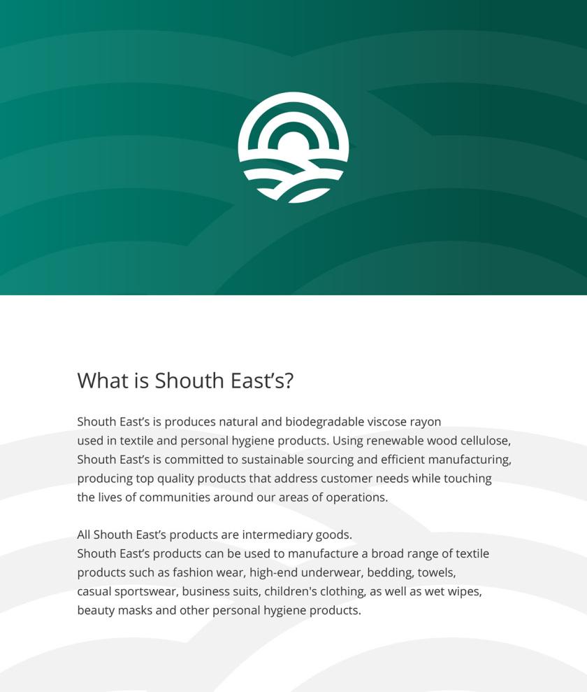 South East''s 人造丝纺织原料成分品牌logo设计vi设计,太阳农田纤维元素