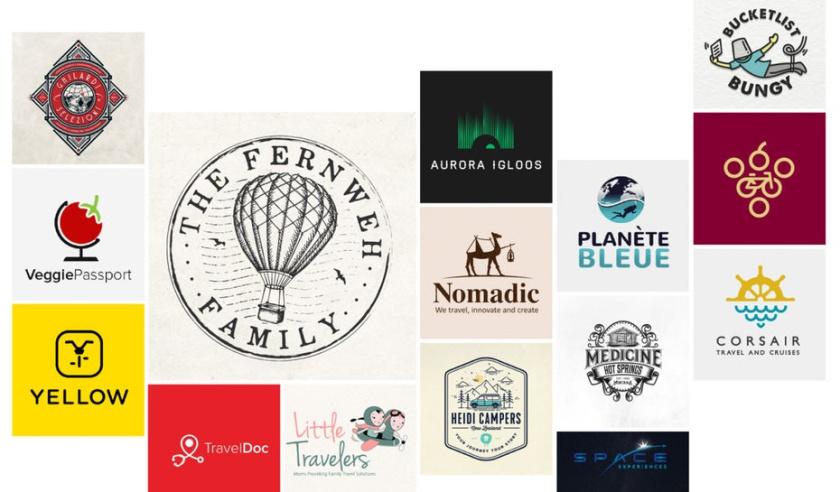 36个令人惊叹的旅游旅行品牌logo设计