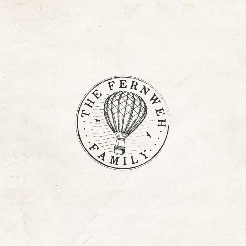 活版式热气球的圆形图像旅游logo设计