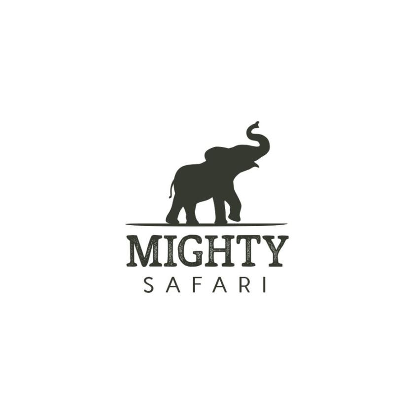 大象的剪影的旅游logo设计