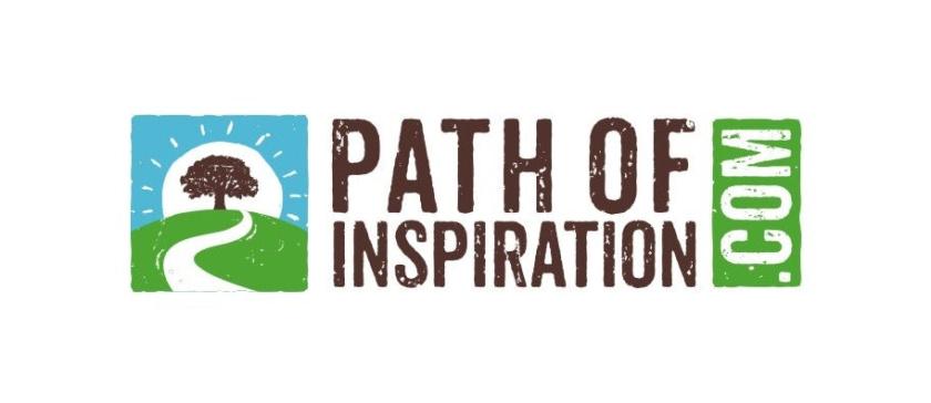 描绘通往树的道路的方形图标旅游logo设计
