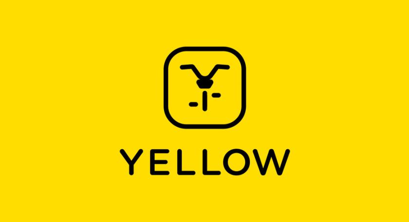 黄色图标与自行车的极简主义黑色图像的旅游logo设计