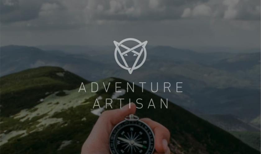相交的三角形使狐狸脸旅游logo设计
