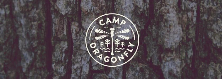 营地旅游logo标志设计与蜻蜓