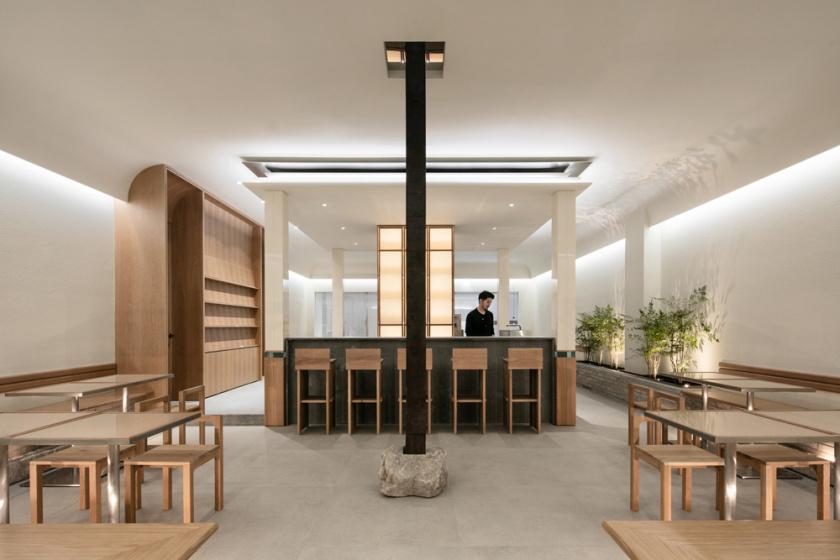 SAEMCafé咖啡店餐饮空间fun88乐天使备用,稳定比例的结构美学