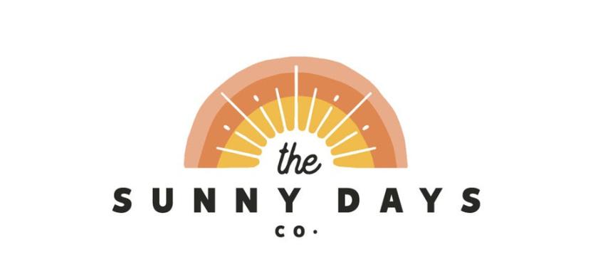 以海滩为主题的logo设计显示日落