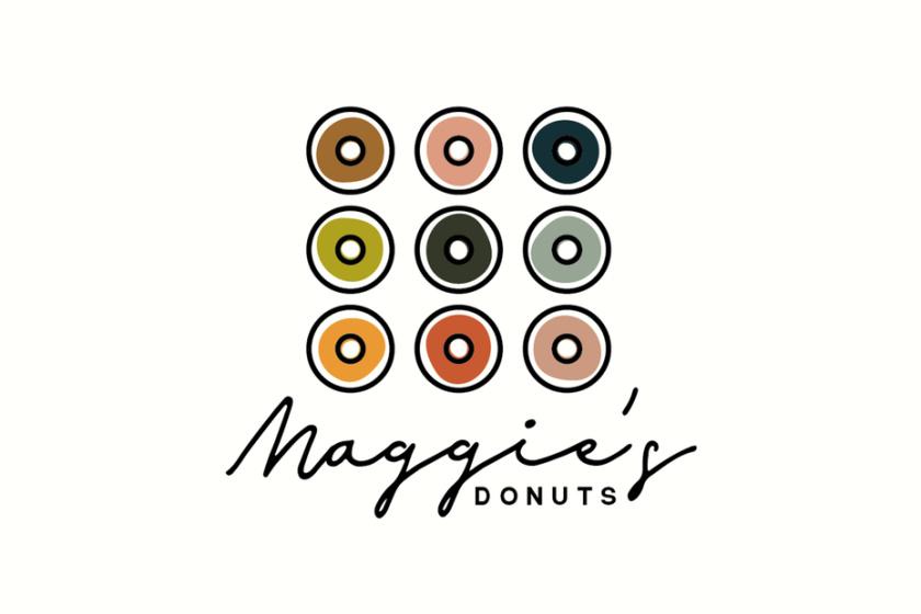 甜甜圈店的现代简约标志设计