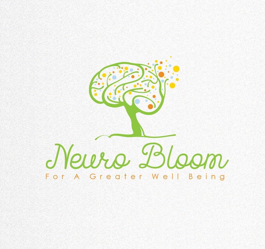 Neuro Bloom标志logo和品牌标语