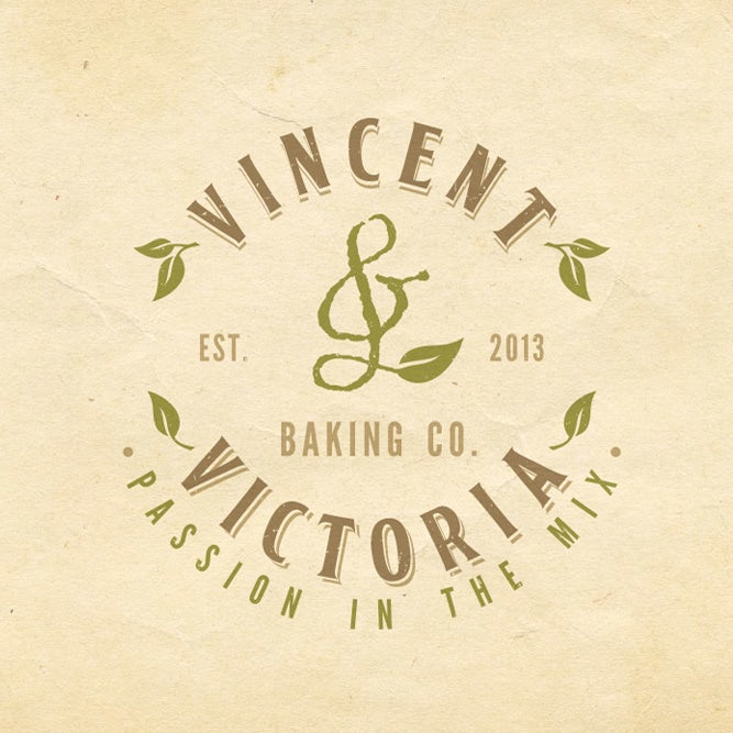 Vincent&Victoria的标志,复古灵感标志,DSKY标语设计