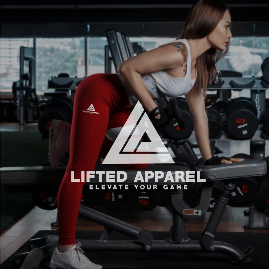 Lifted Apparel的标志和标语,CostinLogopus为Lifted Apparel设计了强大的标志设计