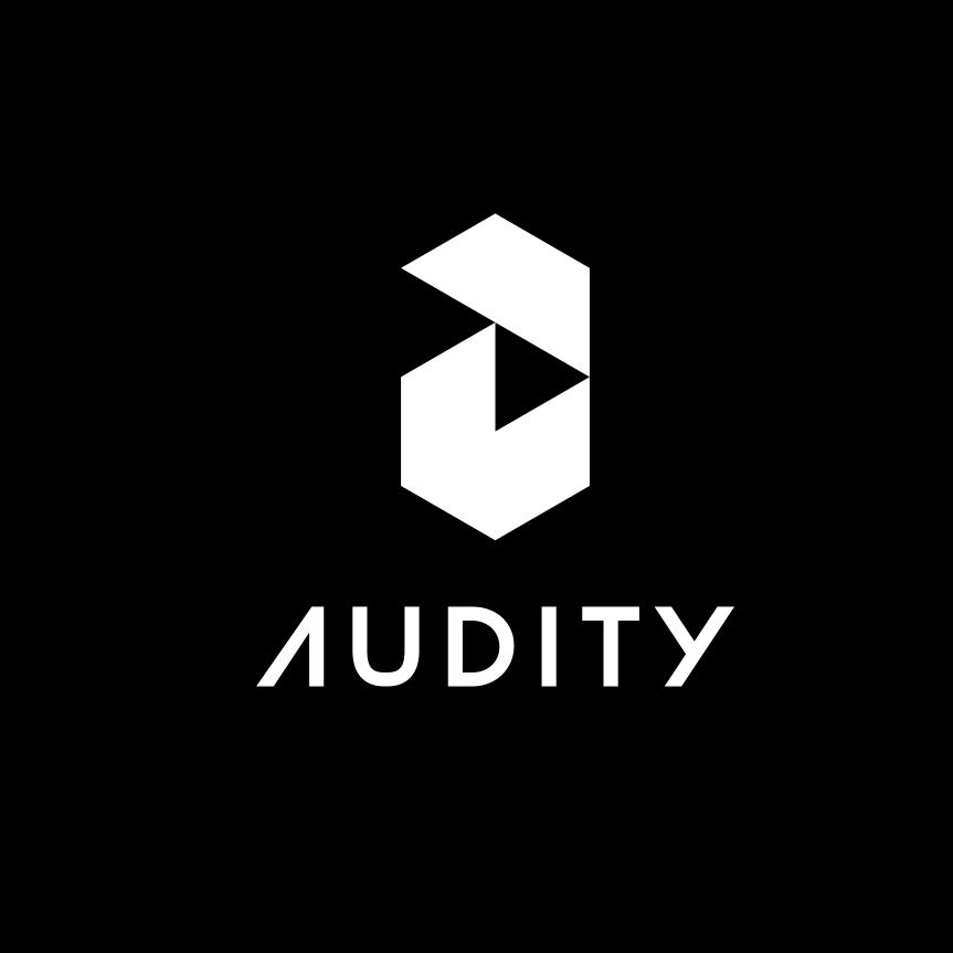 几何黑白logo设计-Audity标志logo