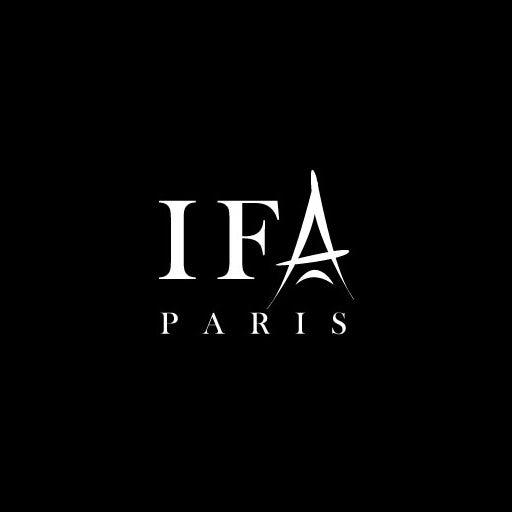 奢华的黑白标志logo设计-IFA巴黎标志logo