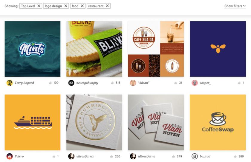 99designs Discover搜索工具的屏幕截图