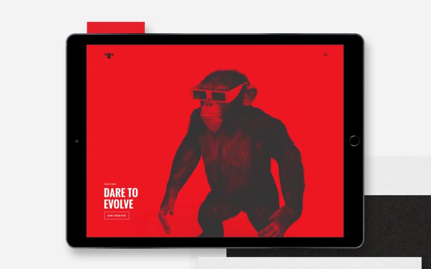Envolve 媒体品牌形象重塑与简约几何风格猴头logo设计