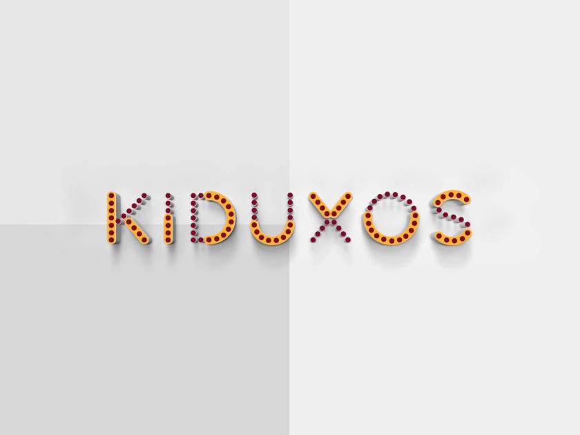 KIDUXOS儿童商店品牌logo设计vi设计与店铺空间设计