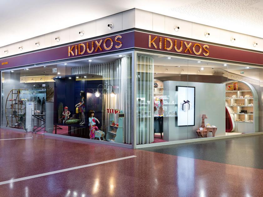 KIDUXOS儿童商店品牌logo设计vi设计与店铺室内空间设计