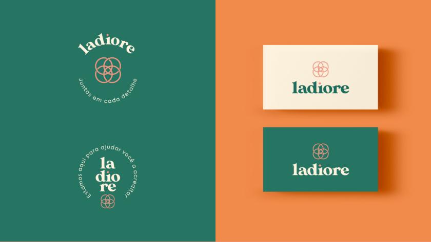 ladiore 女性时尚品牌logo设计与视觉识别vi设计,源自四个象征