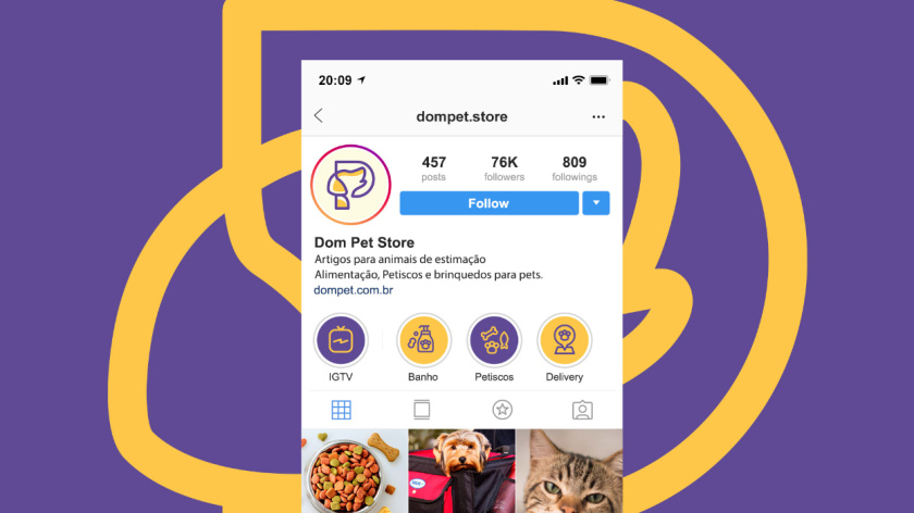 Dom Pet Store 宠物食品专卖店品牌logo设计vi设计,首字母+狗头线条logo