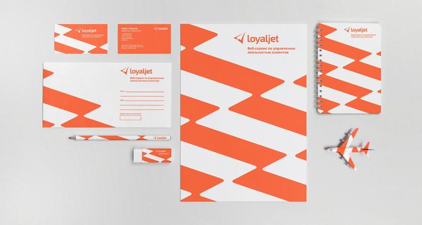 LoyalJet 航空服务公司企业飞机logo设计与闪电vi设计
