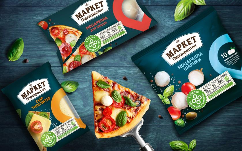 Perekrestok 保鲜冷冻速食食品包装设计,传达无比新鲜与品质保证