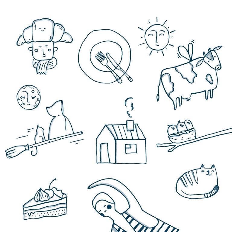 绿线健康食品乳制品鲜肉产品品牌包装设计,手绘绿线超级视觉符号