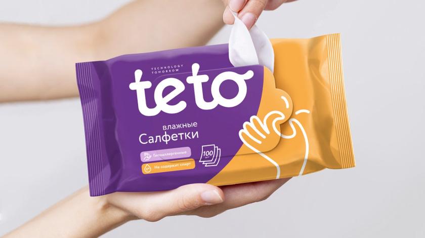 Teto 婴儿纸尿裤包装设计与飞行的生物机器人吉祥物设计