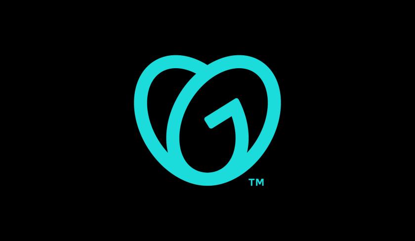 GoDaddy 域名注册商和网站空间托管公司心形logo设计