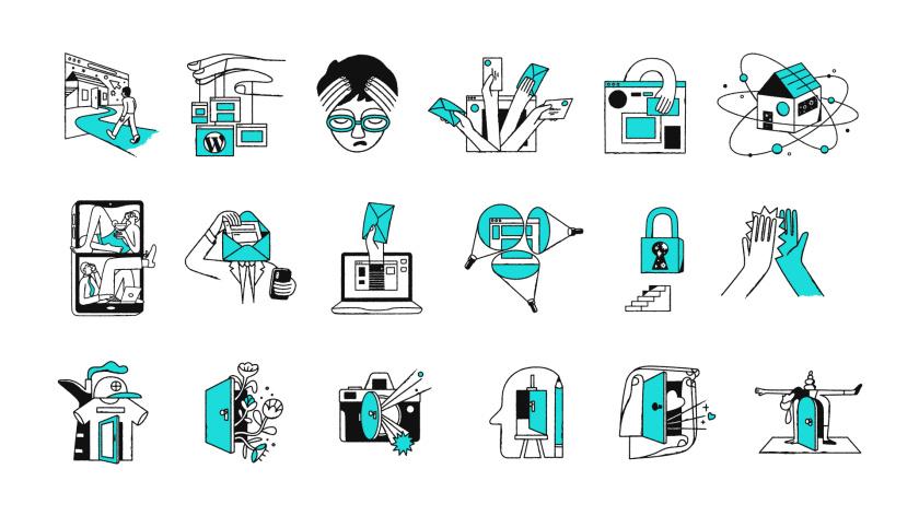 GoDaddy 域名注册商和网站空间托管公司心形logo设计vi设计